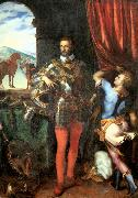 CAMPI, Giulio Portrait of Ottavio Farnese oil painting artist