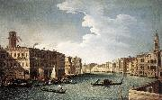 CANAL, Bernardo The Grand Canal with the Fabbriche Nuove at Rialto oil painting picture wholesale