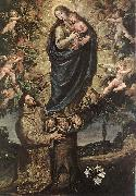 CARDUCHO, Vicente Vision of St Francis of Assisi fg oil