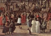 CARLEVARIS, Luca The Reception of Cardinal Cesar d Estrees (detail) oil painting artist
