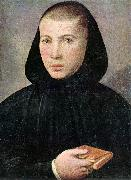 CAROTO, Giovanni Francesco Portrait of a Young Benedictine g oil