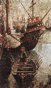 CARPACCIO, Vittore The Arrival of the Pilgrims in Cologne (detail) oil painting picture wholesale
