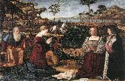 CARPACCIO, Vittore Holy Family with Two Donors oil