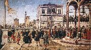 CARPACCIO, Vittore The Ambassadors Return to the English Court fg oil painting picture wholesale