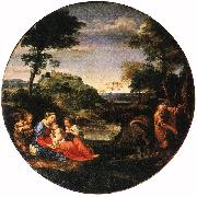 CARRACCI, Annibale Rest on Flight into Egypt ff oil painting picture wholesale