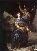 CAVALLINO, Bernardo The Ecstasy of St Cecilia df oil painting artist