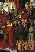 CHARONTON, Enguerrand The Coronation of the Virgin, detail: the crowd iyu oil