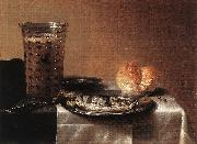 CLAESZ, Pieter Still-life with Herring fg oil painting artist