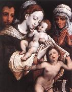 CLEVE, Cornelis van Holy Family dfgh oil painting artist
