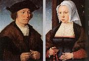 CLEVE, Joos van Portrait of a Man and Woman dfg oil
