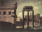 CODAZZI, Viviano Rome, the Campo Vaccino Looking toward the Capitoline d oil