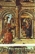 COSSA, Francesco del Annunciation and Nativity (Altarpiece of Observation) df oil