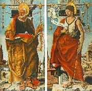 COSSA, Francesco del St Peter and St John the Baptist (Griffoni Polyptych) drg oil