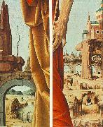 COSSA, Francesco del St Peter and St John the Baptist, details (Griffoni Polyptych) sdf oil