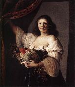 COUWENBERGH, Christiaen van Woman with a Basket of Fruit fgf oil painting picture wholesale