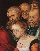 CRANACH, Lucas the Elder Christ and the Adulteress (detail) dfh oil painting picture wholesale