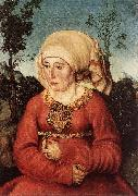 CRANACH, Lucas the Elder Portrait of Frau Reuss dgg oil painting picture wholesale