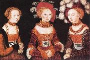 CRANACH, Lucas the Elder Saxon Princesses Sibylla, Emilia and Sidonia dfg oil painting picture wholesale