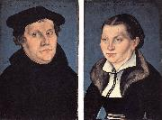 CRANACH, Lucas the Elder Diptych with the Portraits of Luther and his Wife df oil painting picture wholesale