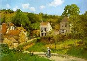 Camille Pissaro The Hermitage at Pontoise oil painting