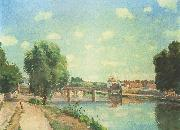 Camille Pissaro The Railway Bridge, Pontoise oil painting picture wholesale