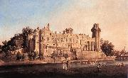 Canaletto Warwick Castle: the South Front df oil painting picture wholesale