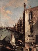 Canaletto Grand Canal, Looking East from the Campo San Vio (detail) fd Spain oil painting artist