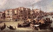 Canaletto Grand Canal: Looking North-East toward the Rialto Bridge (detail) d oil painting picture wholesale