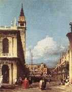 Canaletto The Piazzetta, Looking toward the Clock Tower df oil painting picture wholesale