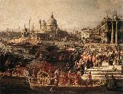 Canaletto Arrival of the French Ambassador in Venice (detail) f oil painting picture wholesale