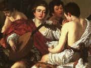 Caravaggio The Concert  The Musicians oil painting artist