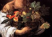Caravaggio Boy with a Basket of Fruit (detail) fg oil painting picture wholesale