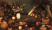 Caravaggio Still Life with Flowers Fruit Spain oil painting reproduction