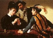 Caravaggio The Cardsharps oil painting artist