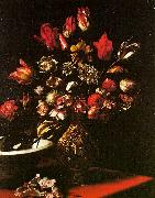 Carlo  Dolci Vase of Flowers oil painting artist
