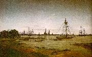 Caspar David Friedrich Port by Moonlight oil painting picture wholesale