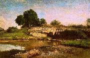 Charles Francois Daubigny The Flood Gate at Optevoz oil painting artist