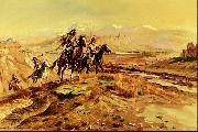 Charles M Russell Intruders oil painting picture wholesale