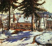 Charles Reiffel February Thaw, Silvermine Connecticut oil painting picture wholesale