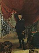 Charles Wilson Peale The Artist in his Museum oil painting