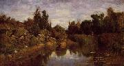 Charles-Francois Daubigny The Water's Edge oil