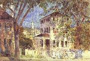 Childe Hassam Street in Portsmouth oil painting picture wholesale