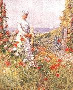 Childe Hassam Celia Thaxter in her Garden oil painting picture wholesale