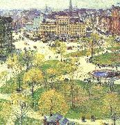 Childe Hassam Union Square in Spring oil painting picture wholesale