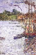 Childe Hassam The Mill Pond at Cos Cob oil painting picture wholesale