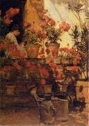 Childe Hassam Geraniums oil painting picture wholesale