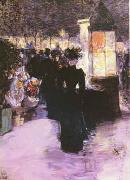 Childe Hassam A Paris Nocturne oil painting picture wholesale