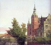 Christen Kobke Frederiksborg Castle seen from the Northwest oil painting artist