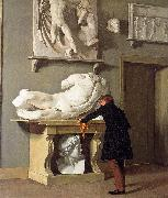 Christen Kobke The View of the Plaster Cast Collection at Charlottenborg Palace oil painting artist