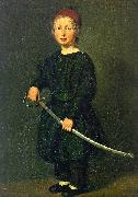 Christian Albrecht Jensen Portrait of a Boy : One of the Artist's Sons Spain oil painting reproduction